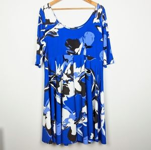 LANE BRYANT Fit and Flare Dress Floral 18/20